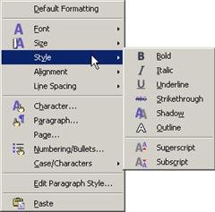 FontFormat OpenOffice
