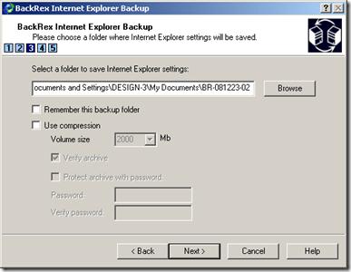 Internet Explorer Bakcup
