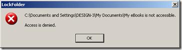 Folder Guardian, no access folder