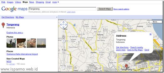 Google Maps, Pencarian nama kota