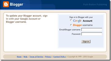 Blogger Web Phising