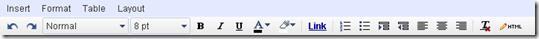 Google Site menu editor
