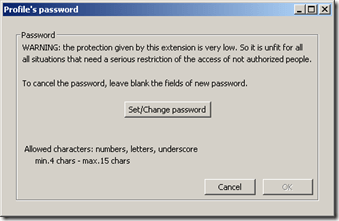 Thunderbird Profile Password