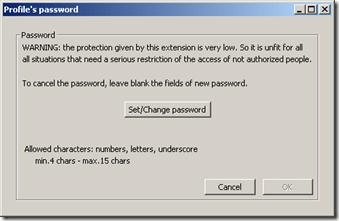 Thunderbird Profile Password