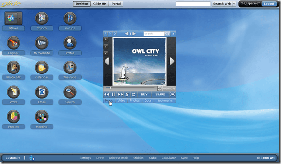 Glide OS - Desktop