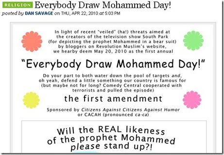 BOYCOT Everybody Draw Muhammed Day