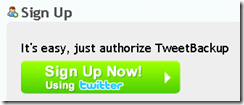 Backup Tweet Twitter online