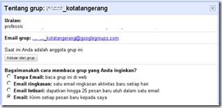 Setting Email Google Groups