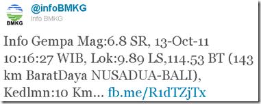 Gempa Bali versi BMKG