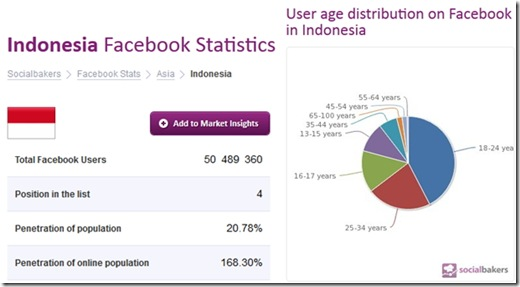 Facebook user statistic