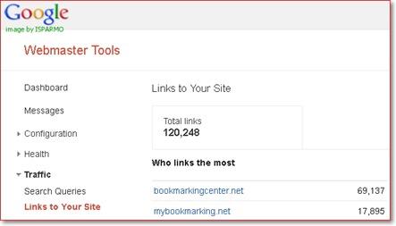 Cek backlink dengan Google Webmaster Tools