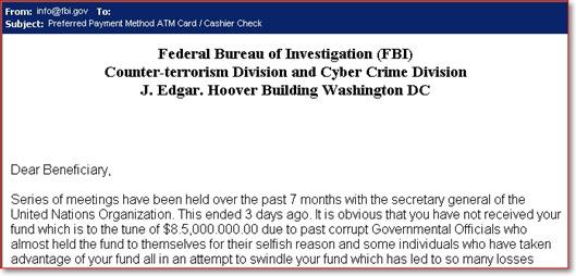 Email palsu dari FBI
