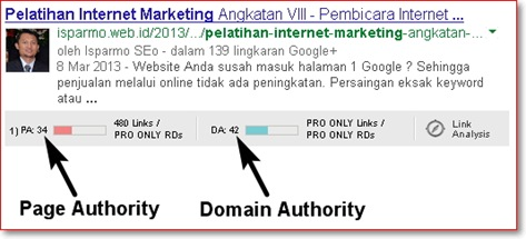 Cek Domain Authority - Page Authority menggunakan Firefox + addon MozBar