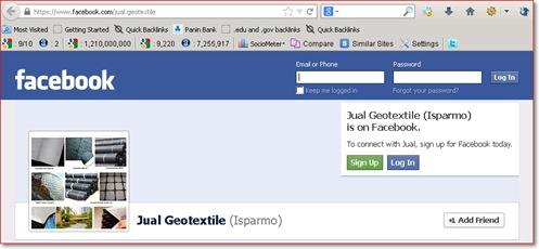 Jual Geotextile Facebook Profile