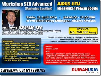 Brosur Workshop SEO 12 April 2014