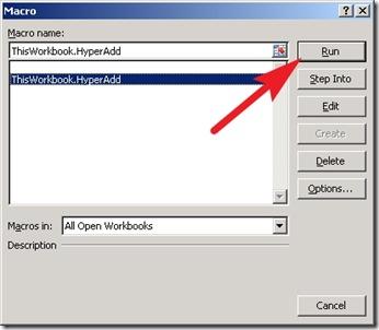 Membuat link aktif di Excel - run macro
