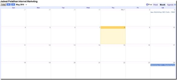 Optimasi Google Calendar
