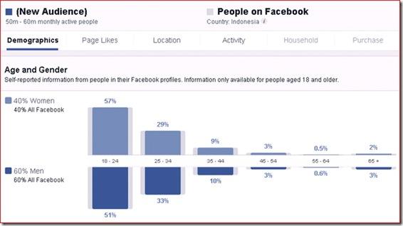 data pengguna facebook umur dan jenis kelamin
