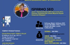 pelatihan seo dan internet marketing purwokerto