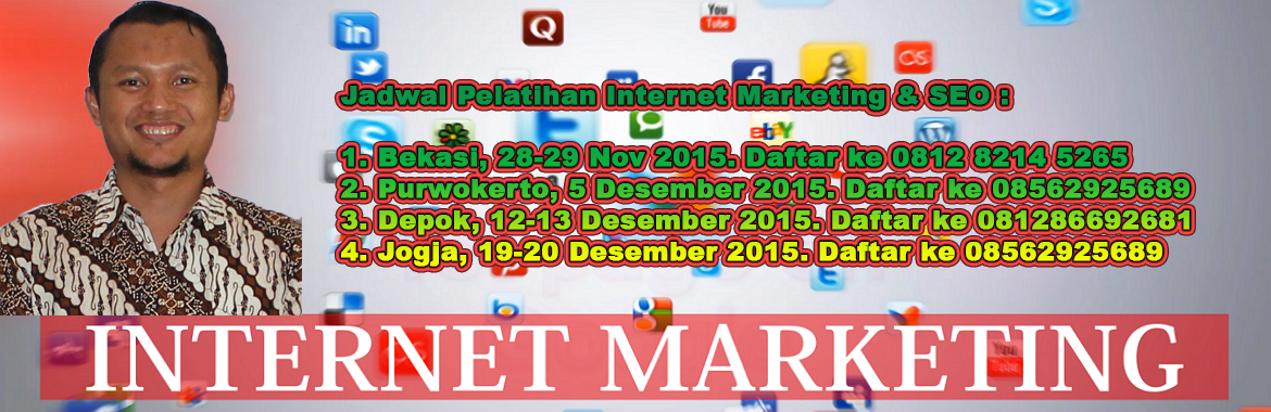 jadwal pelatihan seo internet marketing isparmo 2015