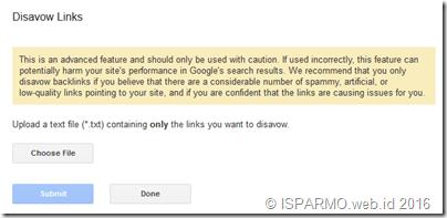 disavow links tool Google