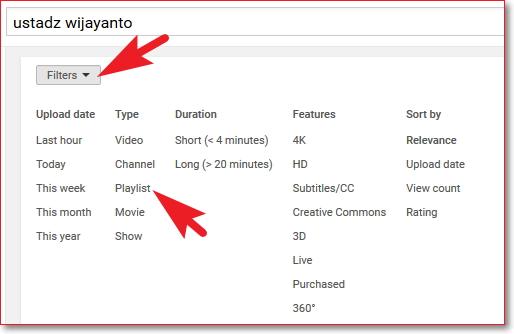 Cara download playlist video youtube dan mengconvert ke mp3 Filter