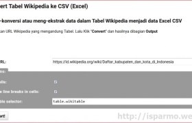 Convert wikipedia tabel to CSV Excel