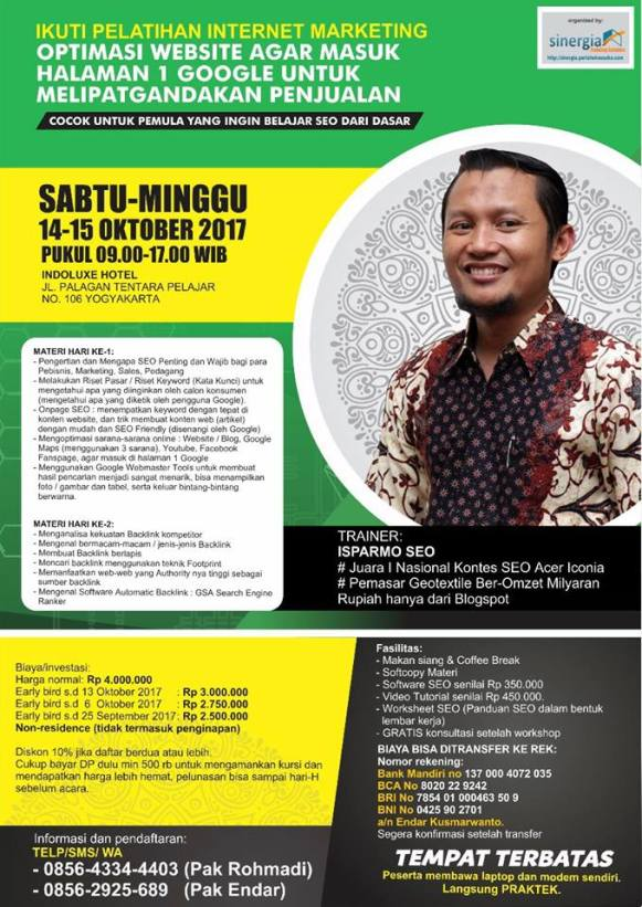 Kursus Internet (Digital) Marketing di Jogja 2017