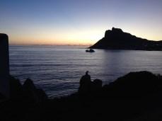 Sonnenuntergang in Kapstadts Hout Bay