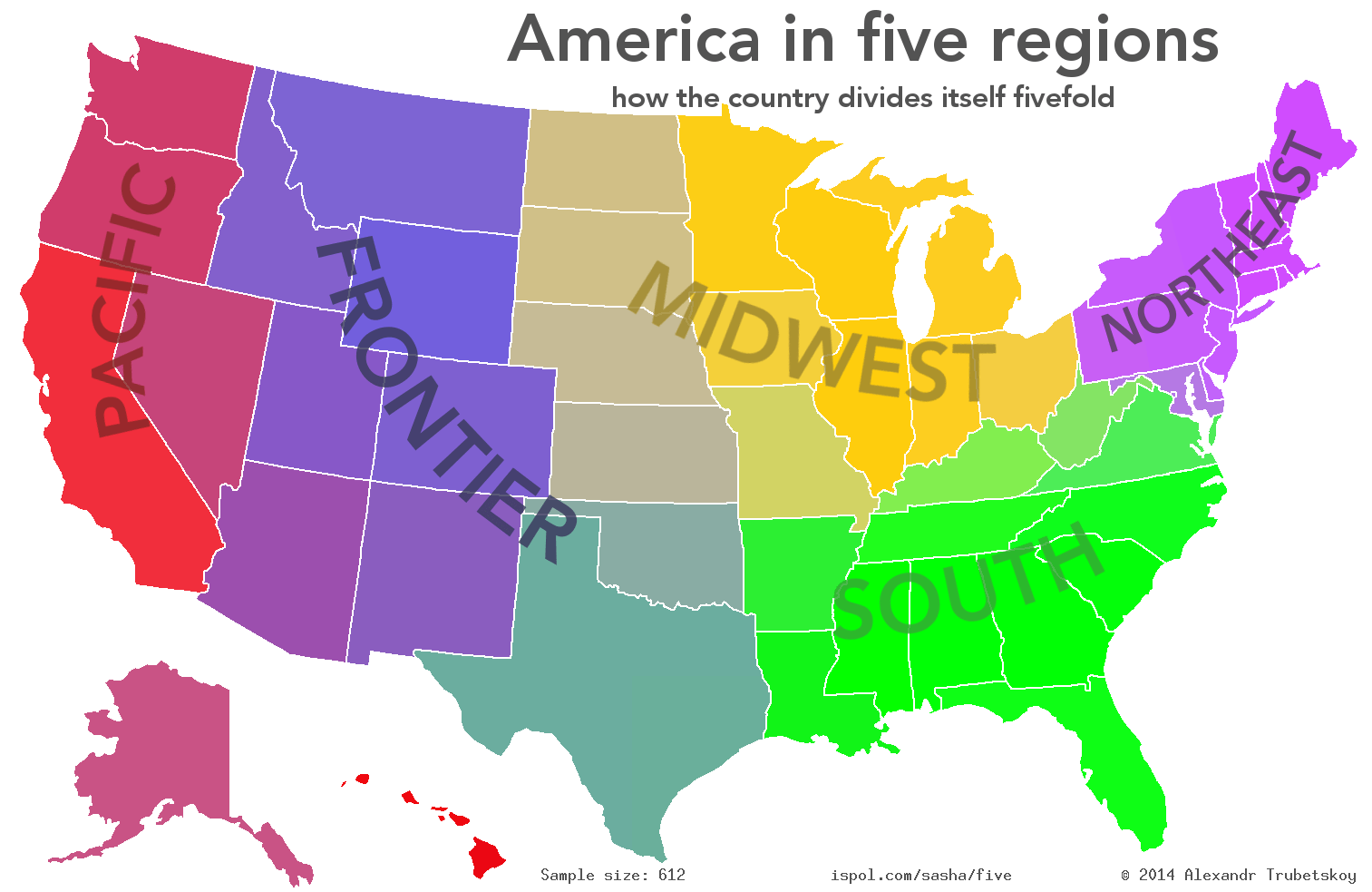 People Were Asked To Divide The United States Into Exactly