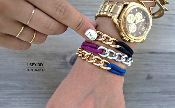 chain hair tie bracelet