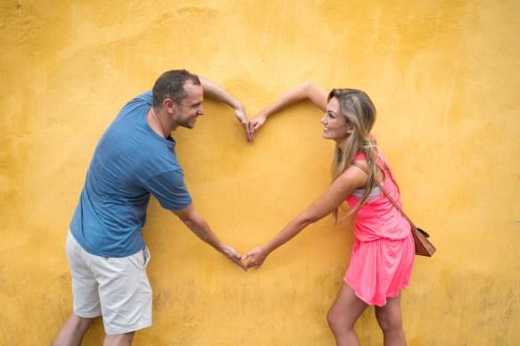 Loving tourists in Cartagena