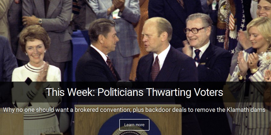 The last Republican brokered convention was in 1976, Ford vs Reagan