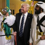 Donald Trump at the Saudi sword dance