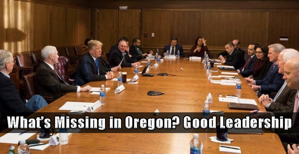 Oregon governor is missing good leadership