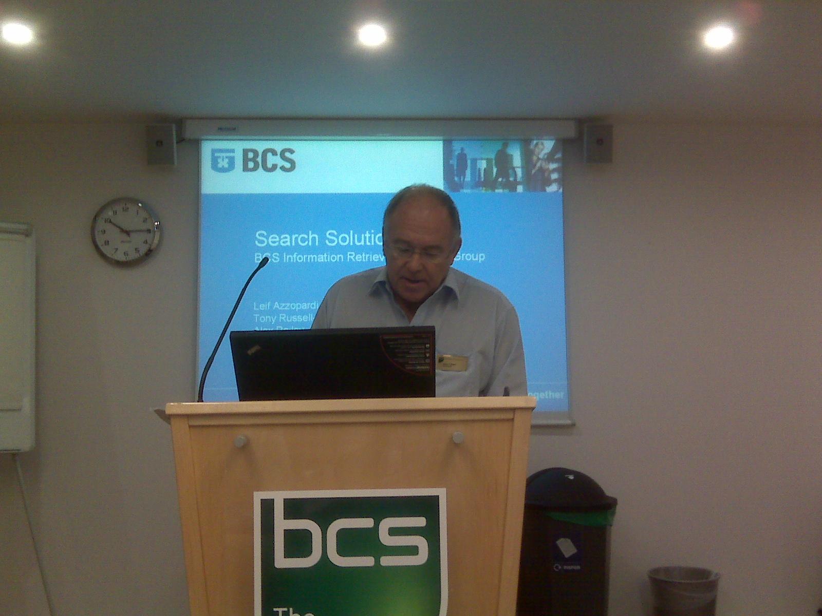 BCS President Alan Pollard