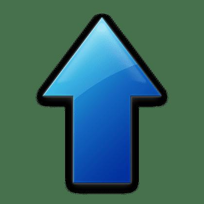 Blue Up Arrow