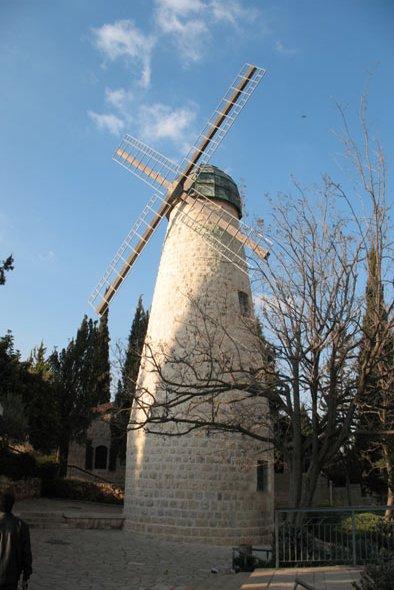 фото мельницы в Иерусалиме
