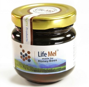 LifeMel honey is produced by bees fed on a special nectar from 40 therapeutic herbs.