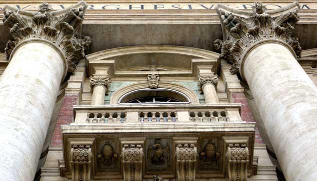 San Pedro del Vaticano: balcón de las bendiciones