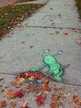 Hiding the leaves_Street art