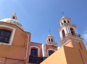 Top of the church of Cholula
