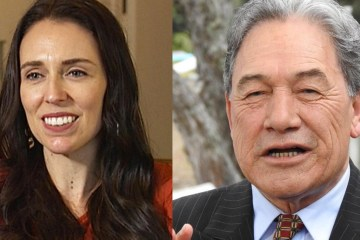 Jacinda Ardern and Winston Peters