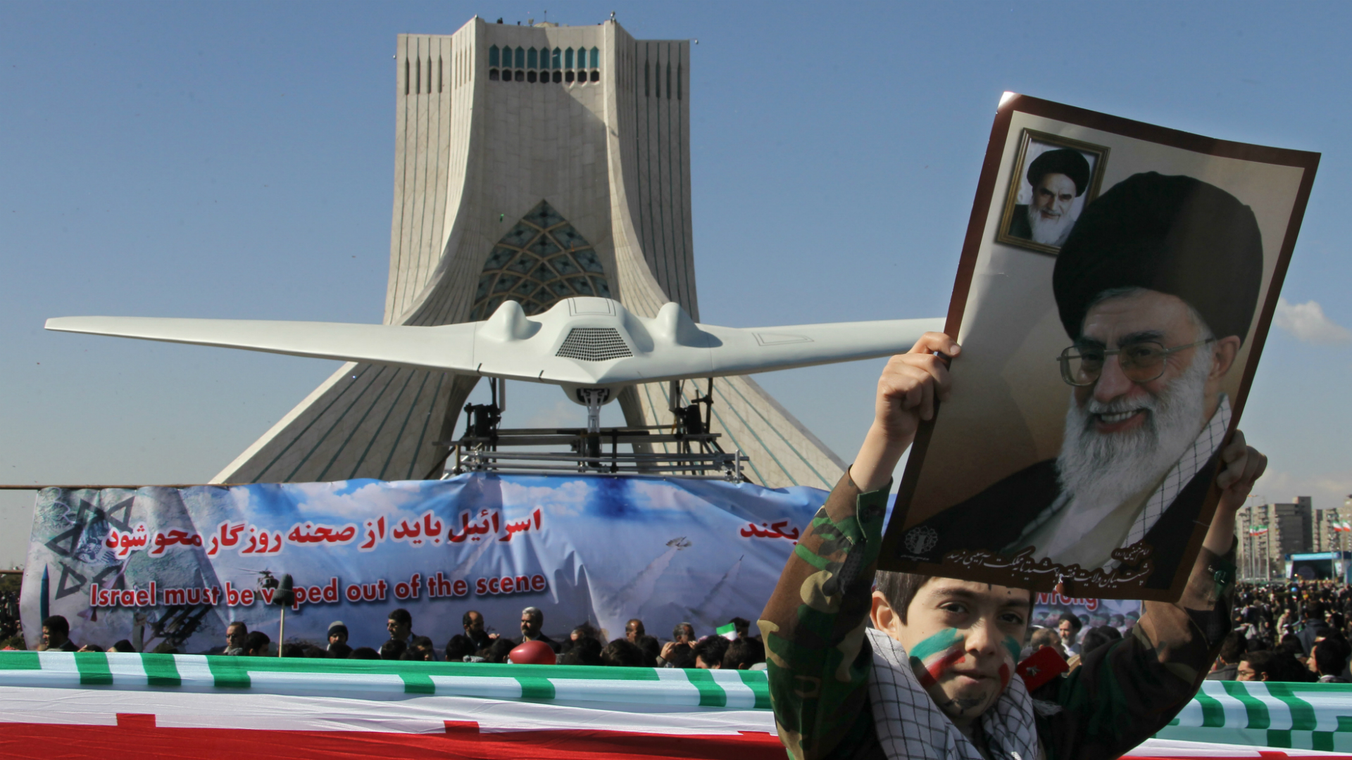 An Iranian drone similar to that which flew into Israel's airspace