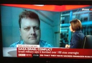 John Chacksfield TV interview after rocket attack