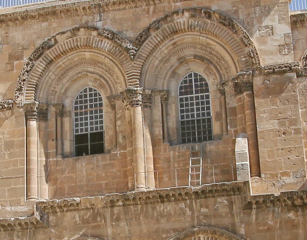 Immovable Ladder,  Church of the Holy Sepulchre, Old City of Jerusalem