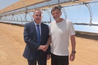 Israeli Minister of Energy Dr. Yuval Steinitz Joins Shikun & Binu Group's Naty Saidoff to Open Ashalim Solar Thermal Power Station