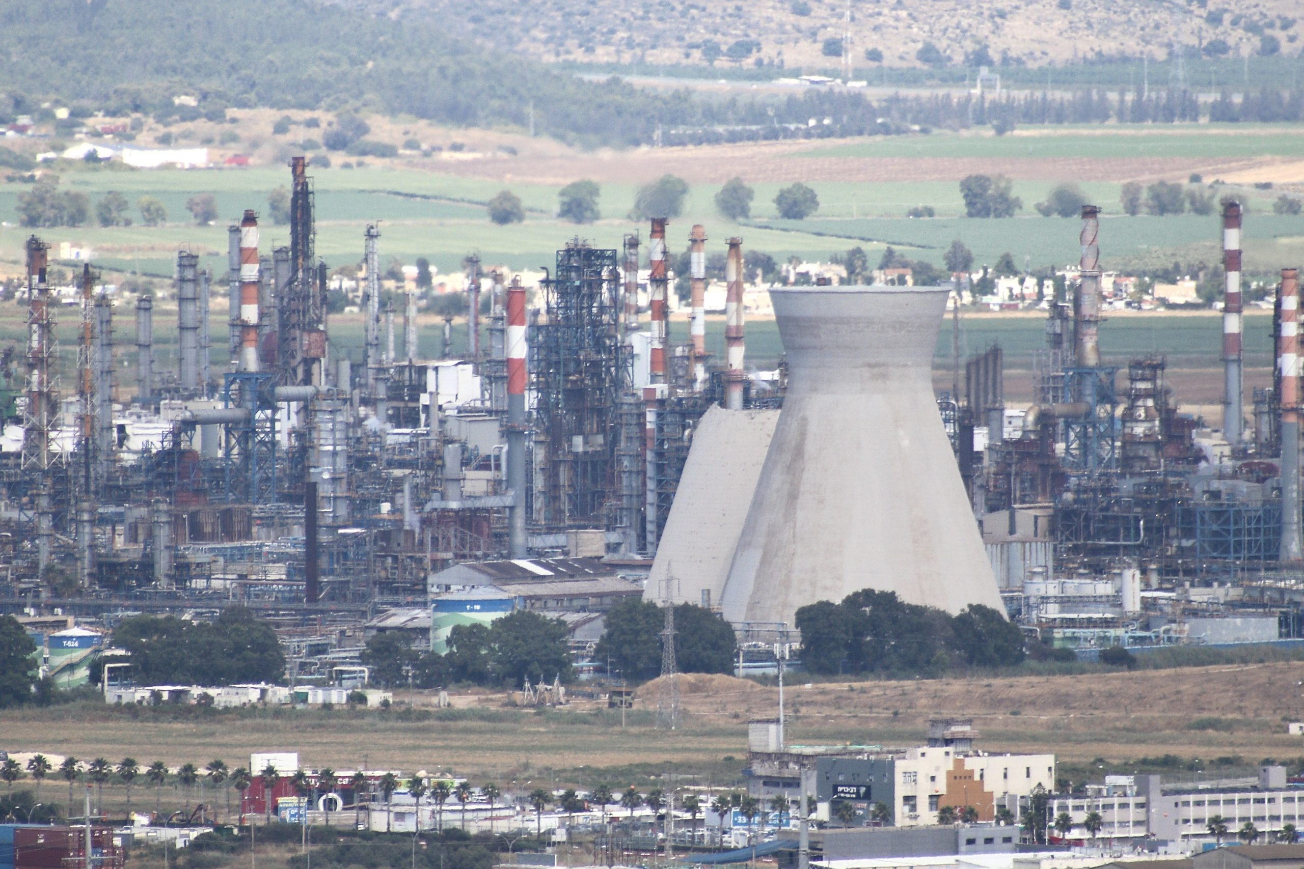 Collapse of cooling tower at Haifa Refinery (Bazan Group)
