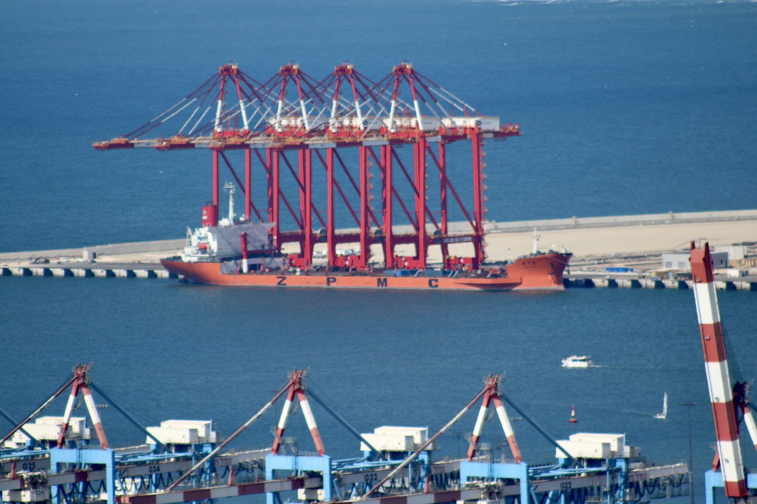 New Chinese-operated port in Haifa under construction