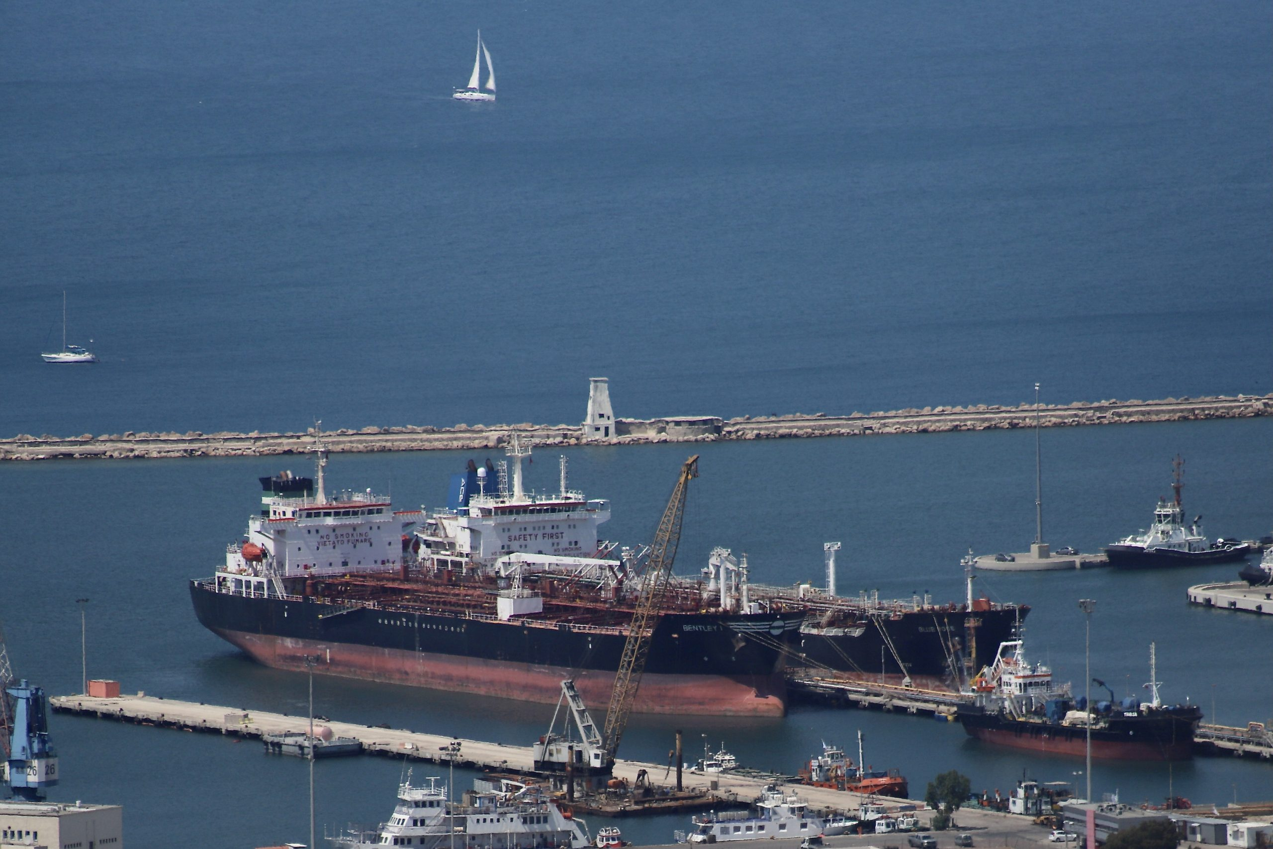 Oil tankers at the Haifa Port